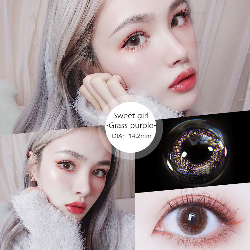 Eye Circle Lens Sweet Girl Purple prescription colored contact lenses-Eyemi