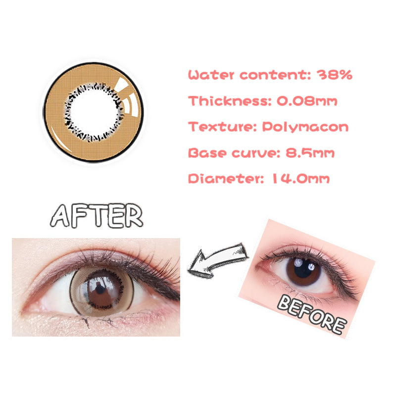 Eye Circle Lens Magic Brown prescription colored contact lenses-Eyemi