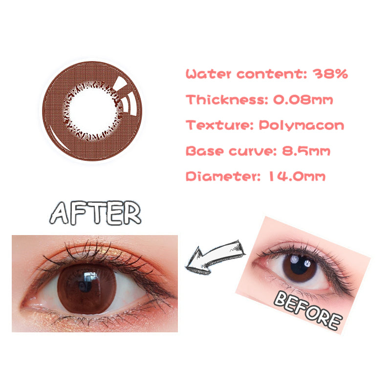 Eye Circle Lens Magic Chocolate prescription colored contact lenses-Eyemi