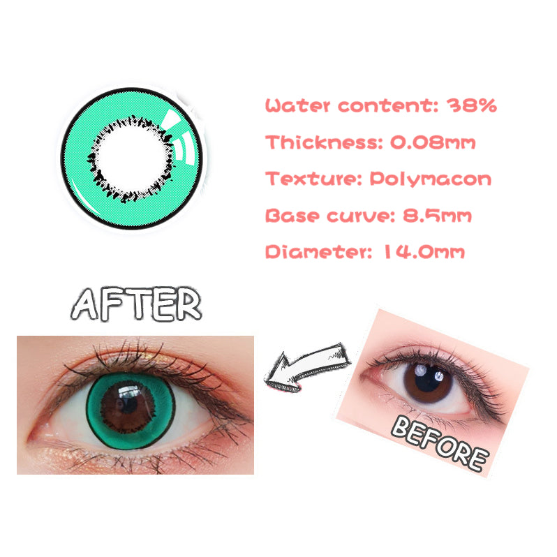 Eye Circle Lens Magic Green prescription colored contact lenses-Eyemi
