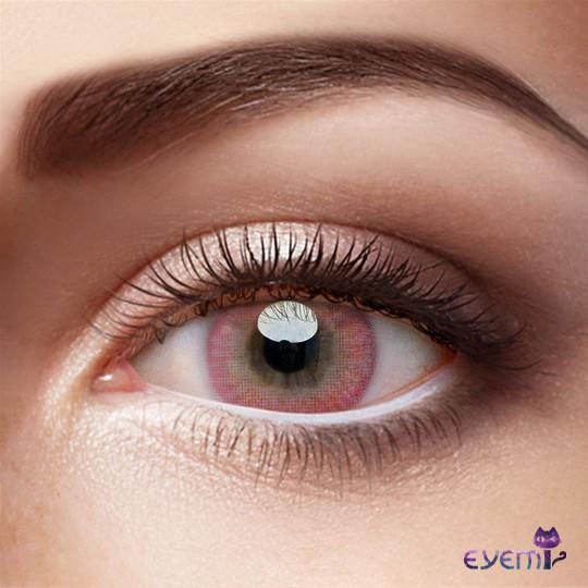 Eye Circle Lens Donut Pink prescription colored contact lenses-Eyemi