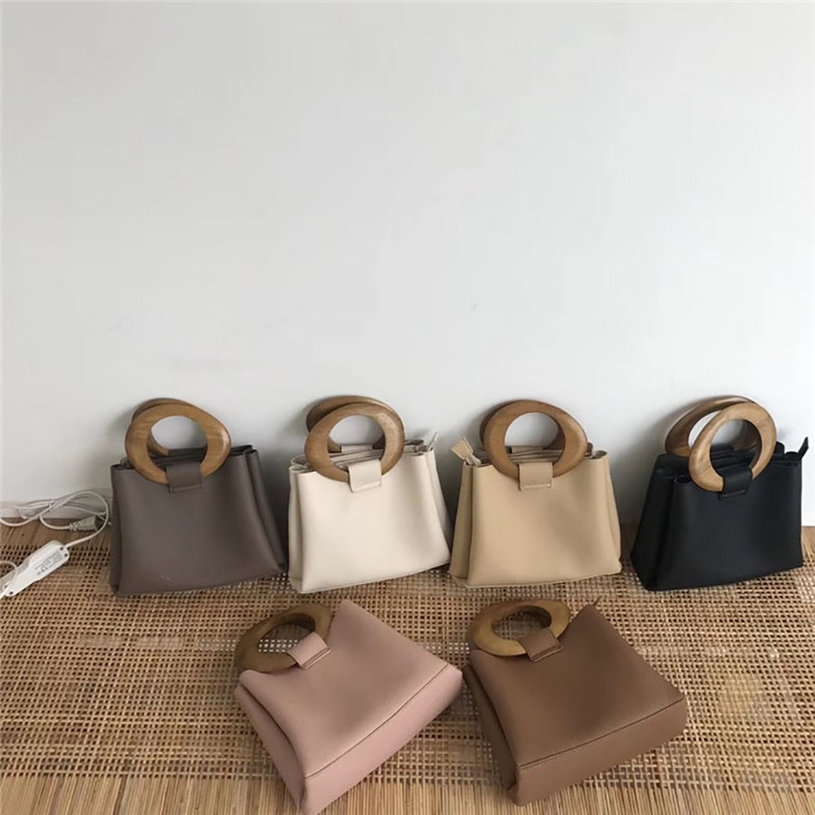 Wooden Ring Totes Bags