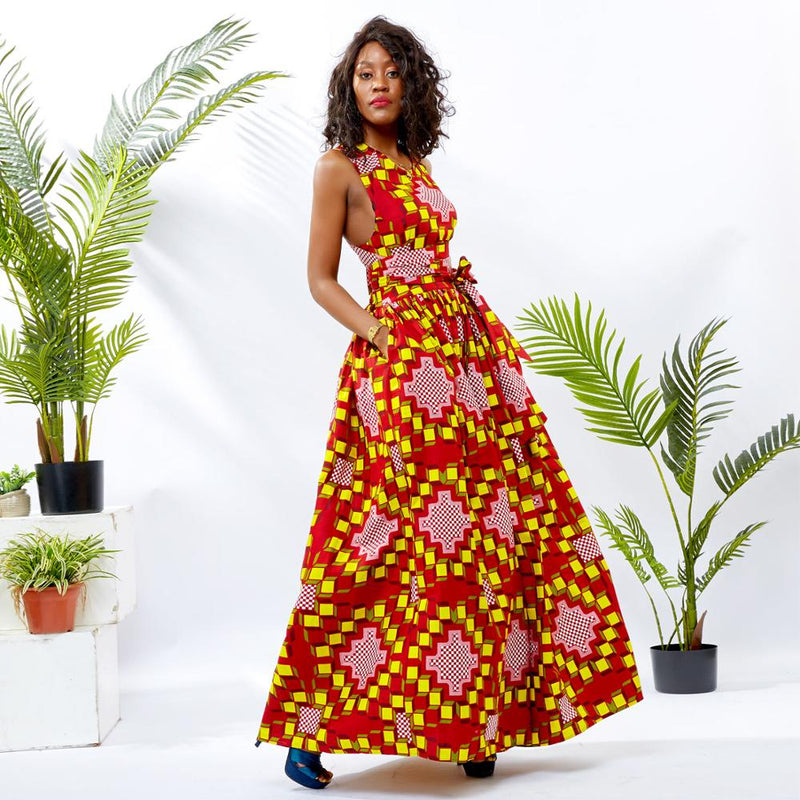 Ankara Cotton Print Dress