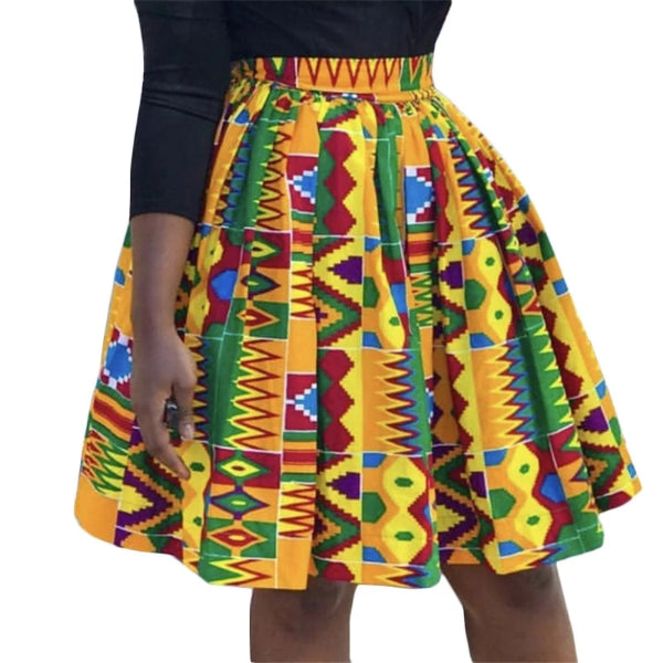 Traditional African Print High Waist Skirt