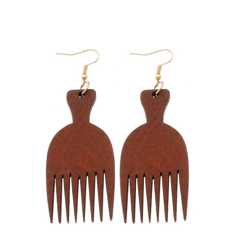 Wooden Comb Earrings
