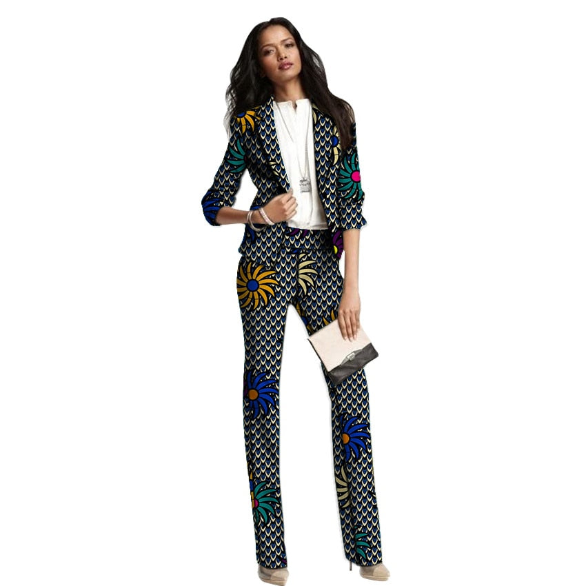 Women's Pants Suits ( African Ankara Print)
