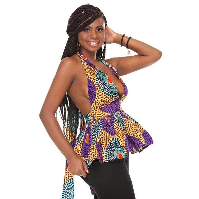 Sexy Ankara Sleeveless Tops