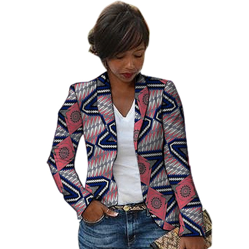 Women African blazers traditional female jacket