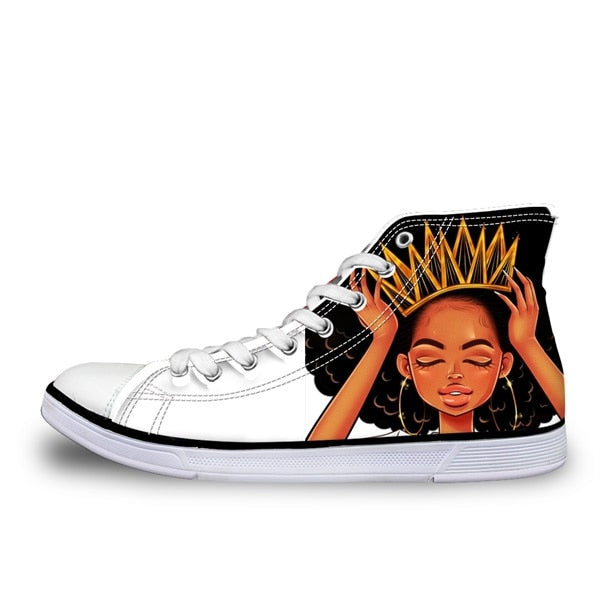 Black Art African Girl Hair Women Shoes