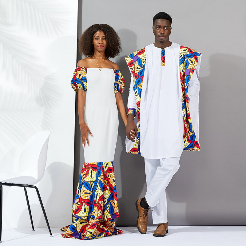 African Dresses for women long Couples