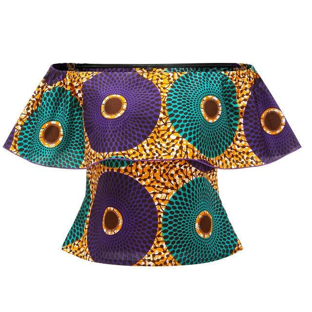 women one shoulder top ankara