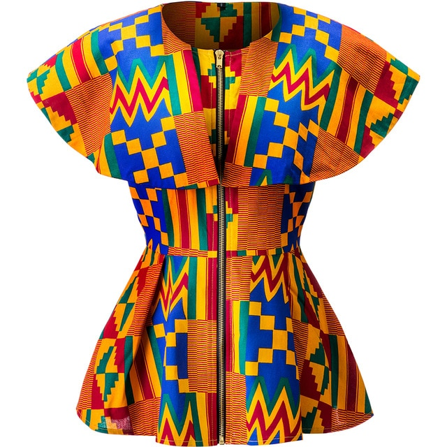 shirts african kente print clothes