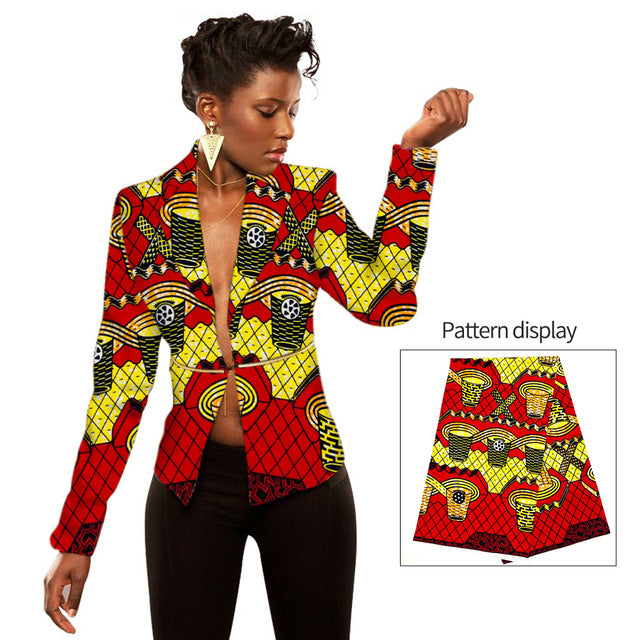 Women Ankara Print jacket