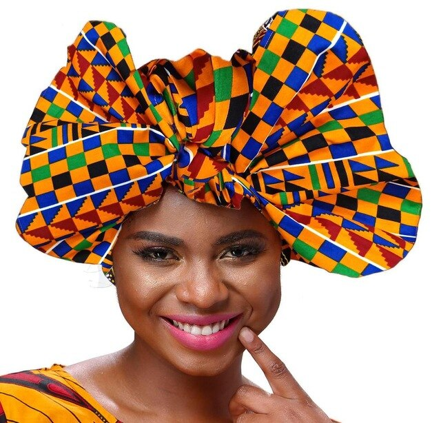 african Headwrap in Women's Hair