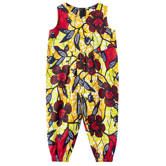 Jumpsuits for kids ankara Print