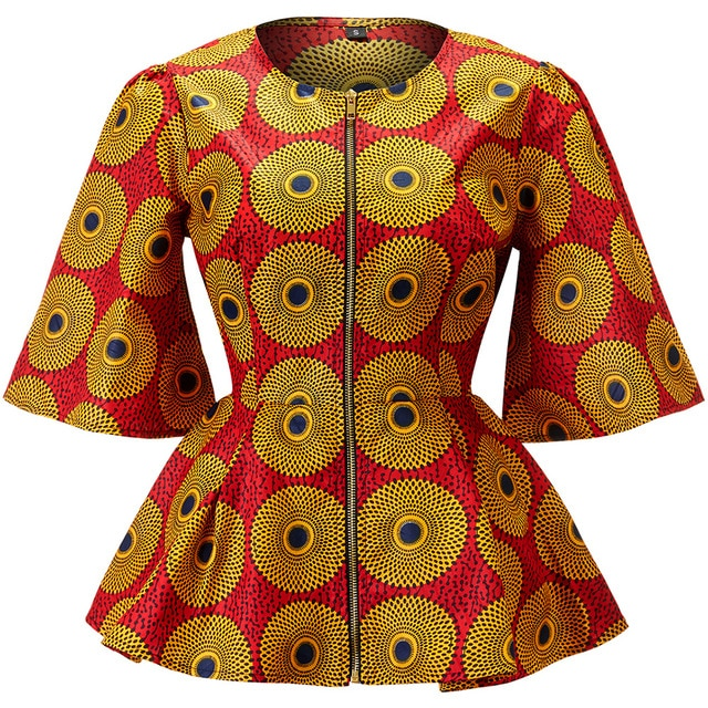 Women Ankara Print Shirt