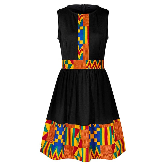 sleeveless dress african clothing