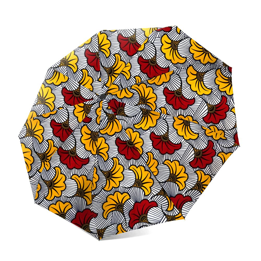 Windproof Ankara Print Umbrellas