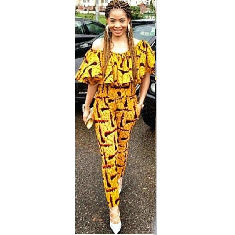 African Jumpsuits Clothes for women
