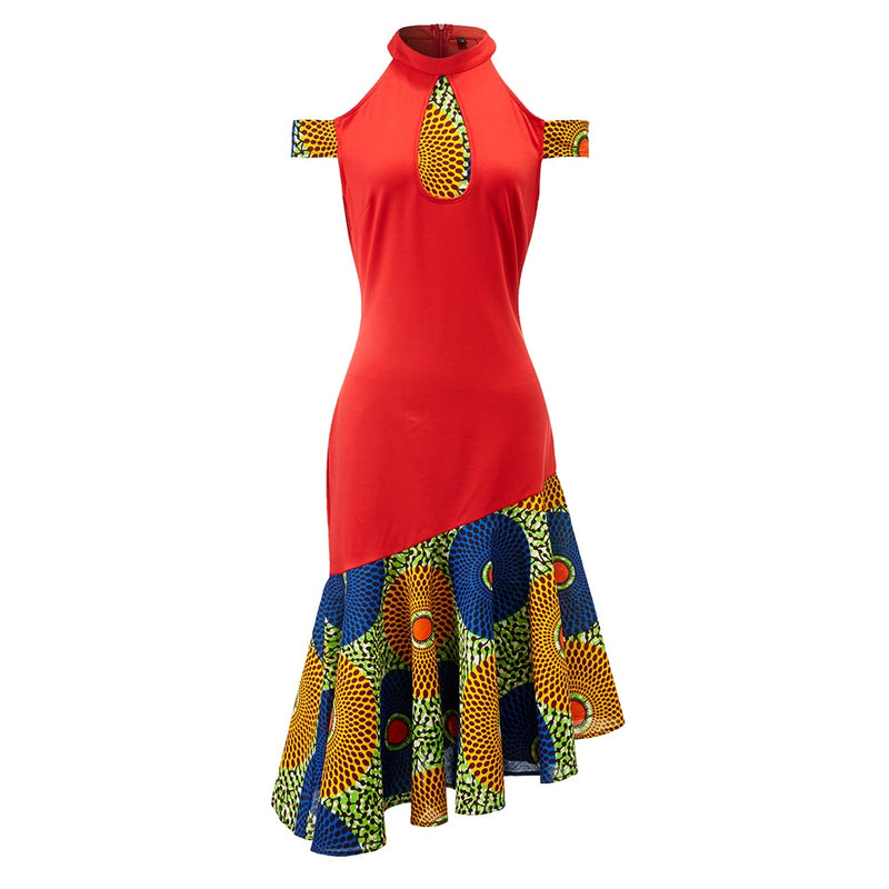 African wax print cotton dress