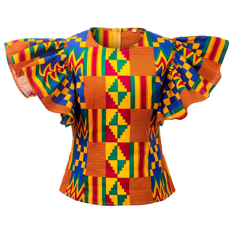 African kente shirts women
