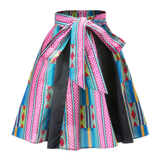 News Kente print skirt Dashiki