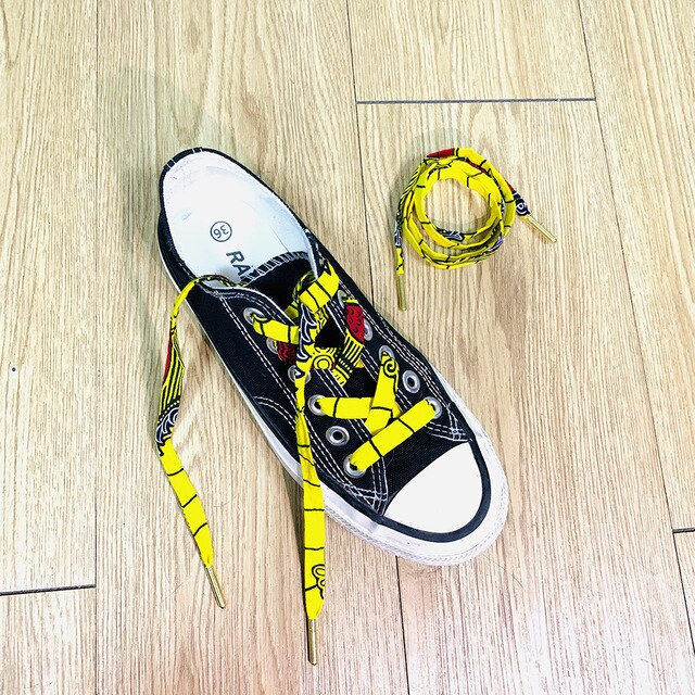 Fashion African print shoelace