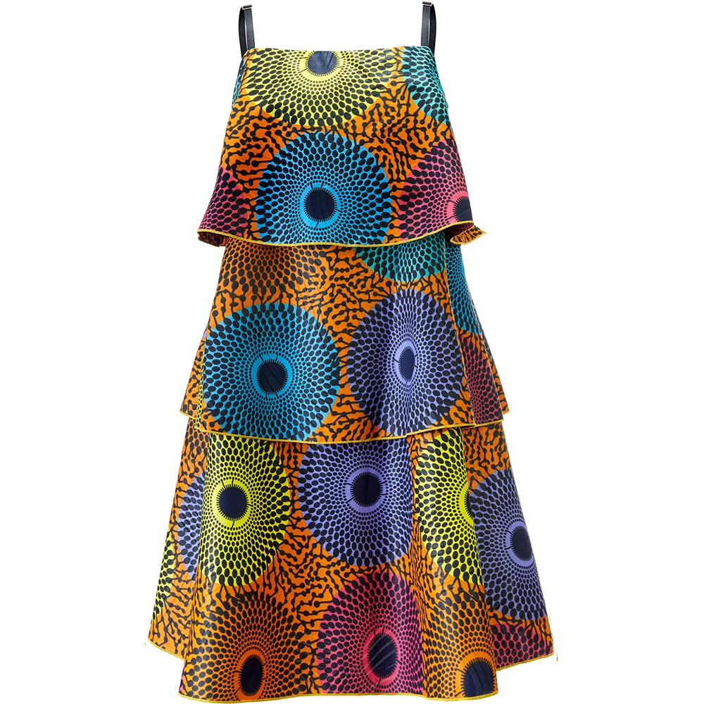 sexy slip dress tiered ankara print