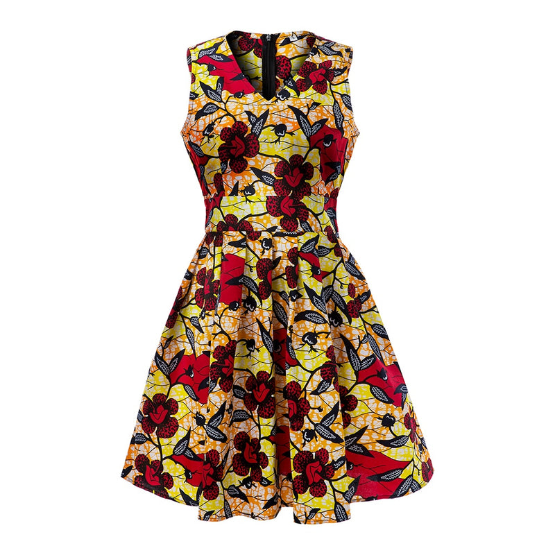Flowers Pattern Print Dress