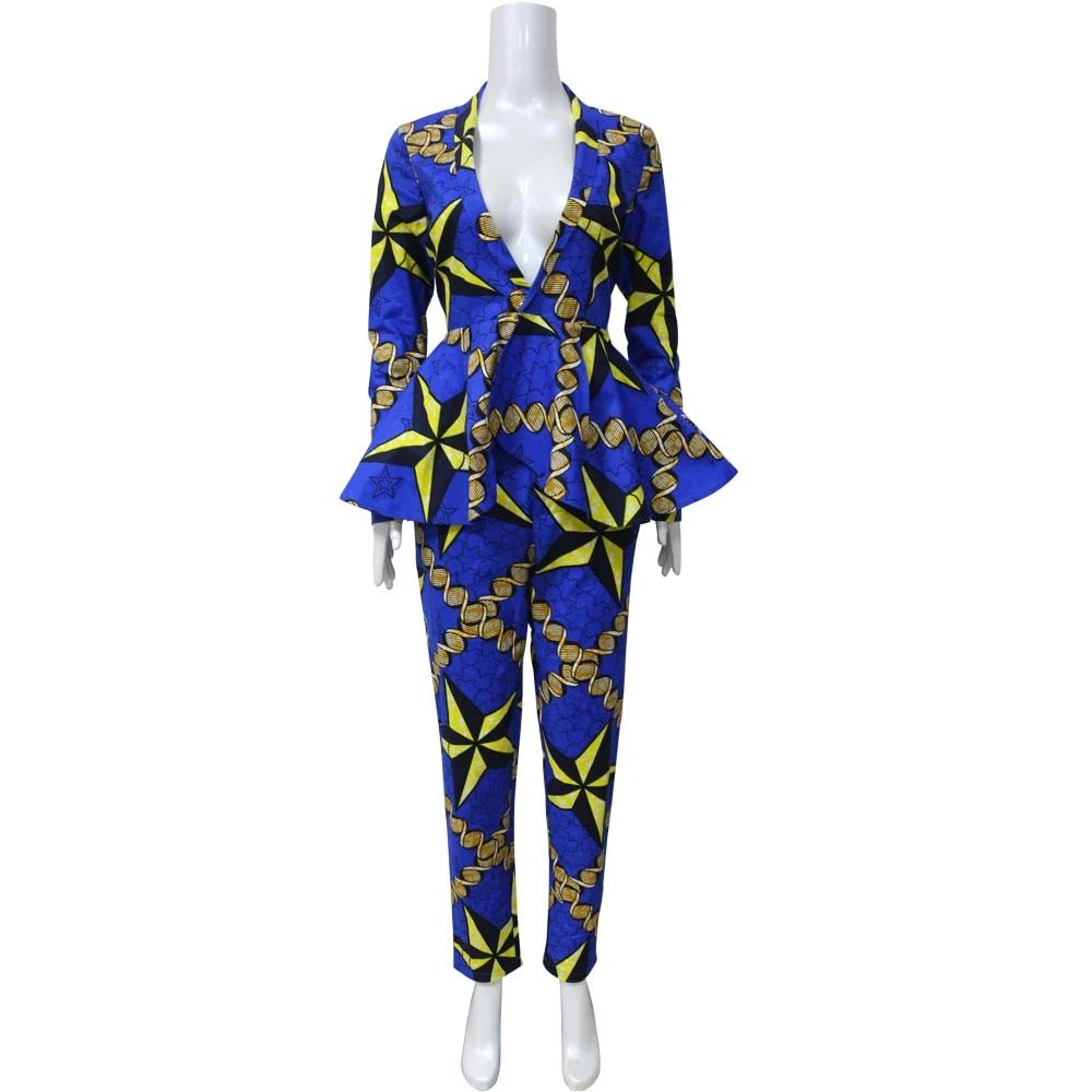 African clothes jacket and pant set