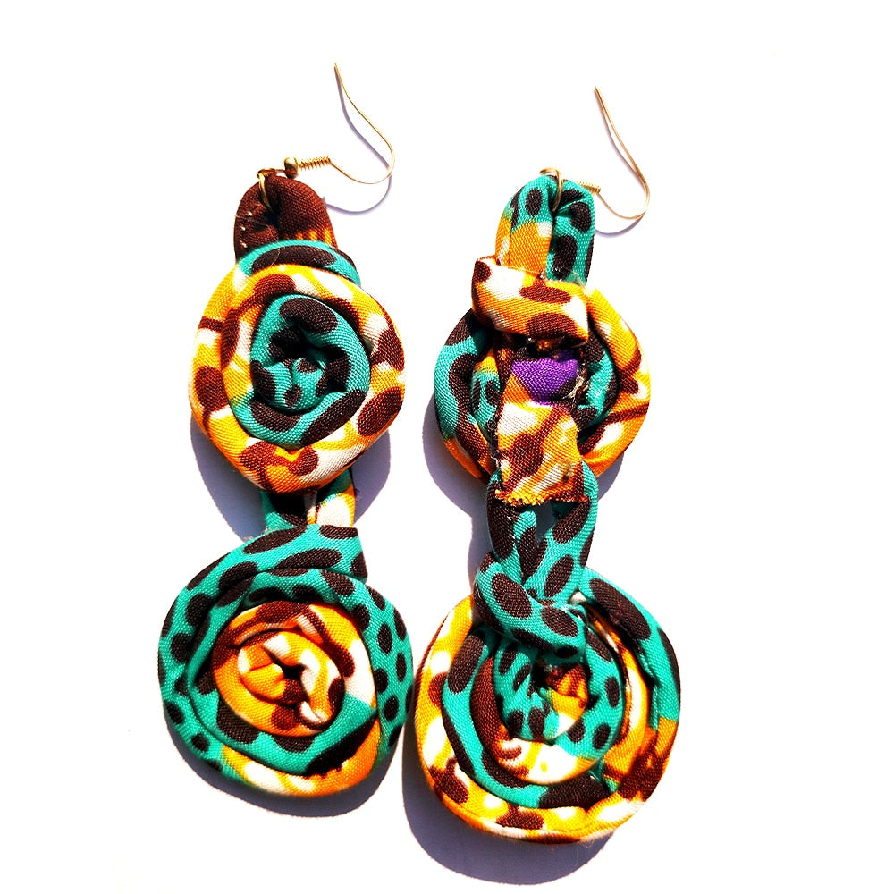 Ankara Print Earrings