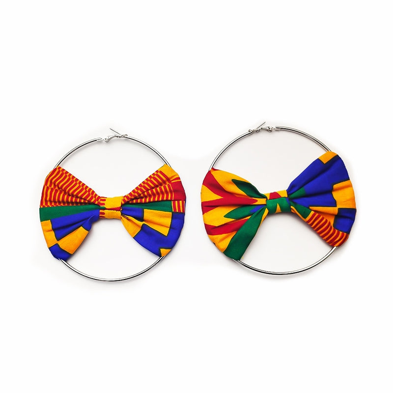 African Earrings Ankara Print