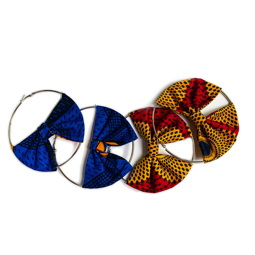 African Earrings ankara jewelry
