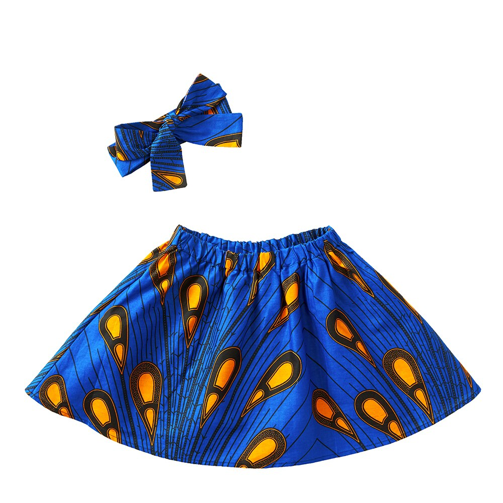 Cotton Material Skirt +Headband Set