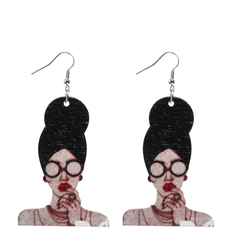 Wood Carvin Earrings