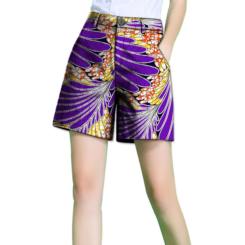 Ankara & Dutch Print Women Shorts