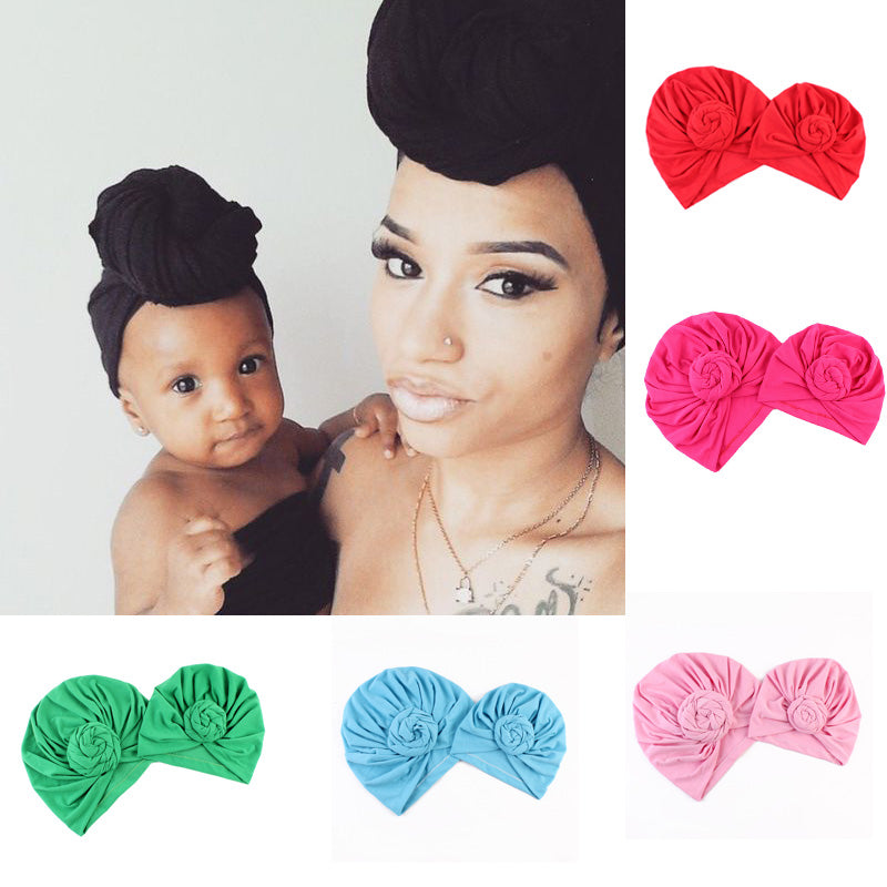 2PCS Mom & Baby Matching Bonnet Sets