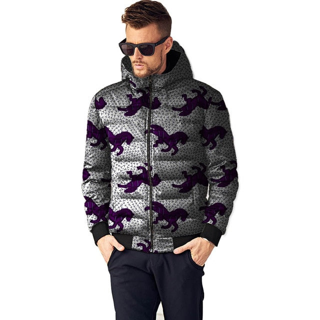 Men Winter Coats (African Ankara Print)