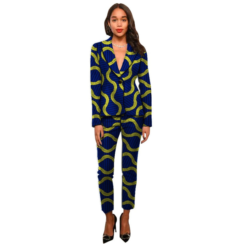 Dashiki clothes print women suits
