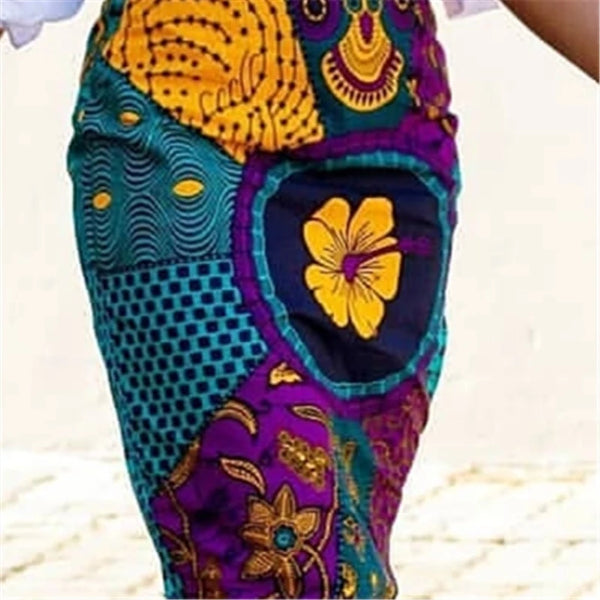 Women Summer Print Skirt