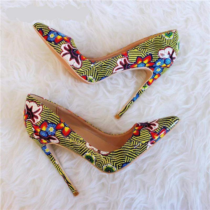 Printed Women Sexy Super High Heels