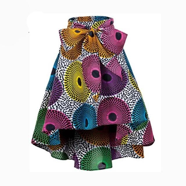 High / Low Ankara Print Skirt