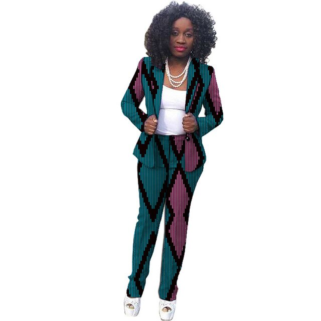 African Fashion print women pant suits