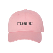 F**K Woah Vicky Dad Hat (Pink)