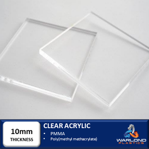 10mm Thick Clear Acrylic Panels Warlondplastics