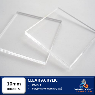 CLEAR ACRYLIC SHEETS 10mm THICK