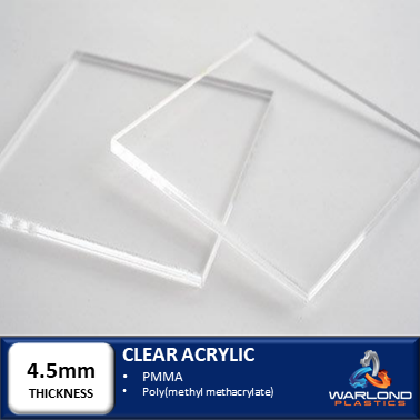 CLEAR ACRYLIC SHEETS 4.5mm THICK