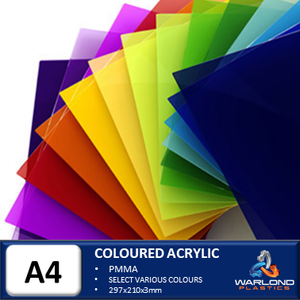 COLOURED ACRYLIC SHEETS A4 SIZE