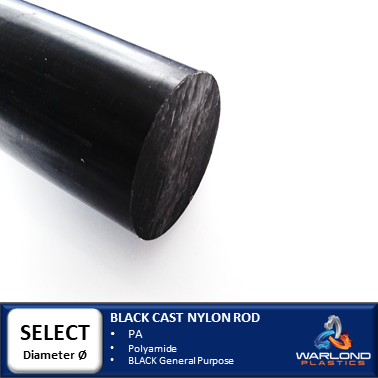 BLACK CAST NYLON ROD