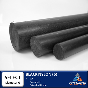BLACK NYLON 6 EXTRUDED ROD
